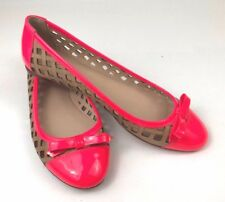 Kate Spade Hot Pink and Tan Leather Flats Size 7M NWOB