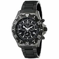 Invicta Mens Python Specialty 6412 Black Stainless-Steel Swiss Chronograph Watch