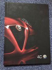 Alfa Romeo 4C Coupe Hardback Brochure 2017