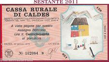 CASSA RURALE DI CALDES LIRE 150 30.01. 1978 AL PORTATORE DISEGNI BAMBINI FDS C31