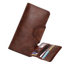Men Wallet Genuine Leather Phone Cases Gent Card Holder Purse Pocket Wallets