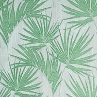 Green off white vertical bamboo textured Wallpaper tropical jungle palm leaves