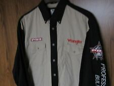 Wrangler Western Shirt men's size Large cotton PBR Embroidered VGC Bull Riders