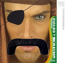 bigote, Schnauzer + Parche para el ojo, bigote, Negro Barba pirata, pirata