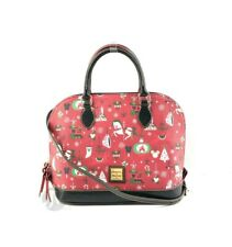 Dooney & Bourke Disney Farmhouse Holiday Zip Satchel Handbag Bag Purse