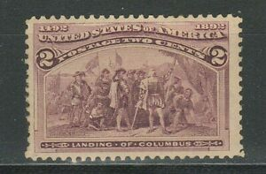 United States 1893 2 cent ☀  Landing of Columbus 1492-1892 ☀ MNH