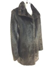 ELLEN TRACY Elegant Women's Faux-Fur MINK Timeless Coat size  XS S M L