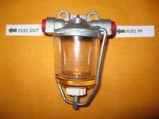 Austin Morris MG Wolseley Riley (tipo AC Delco) Tazón de Vidrio de Alto Flujo Filtro De Combustible