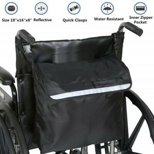 Wheel Chair Storage Tote Accessories Carrying Loose Reflective Wheelchair Bag