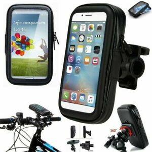 360° Bicycle Motor Bike Waterproof Phone Case Mount Holder For All Apple Phones