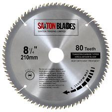 Saxton TCT Circular Wood Saw Blade 210mm x 30mm x 80T for Festool, Dewalt, Bosch