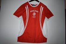 England Euro 2016 Rooney # 10 Soccer Official Jersey Brand New White - Red L