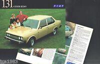 1975 FIAT 131 4 Door Sedan Car Brochure/Flyer