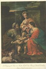 Lamina antigua de Jesus y San Juan Bautista andachtsbild santino holy card