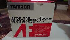 Nikon F65 film camera with Tamron 28-200 lens.