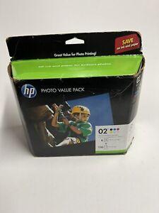 Genuine HP 02 Q7964AN140 6-Pack Ink Cartridges & 150-Sheet Photo Pack Exp 4/19