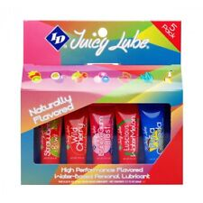 ID Juicy Lube Flavored Edible Personal Lubricant 12 Gram 5 Pack Travel Size