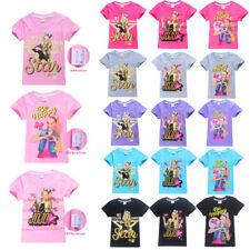 Little Girls' JoJo Siwa Summer Short Sleeve T-Shirt 100% Cotton Tops kid T-Shirt