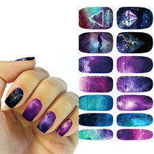 1sheets Nail Art Sticker Water Transfer Star Decals Tips 3D Decal Decoration