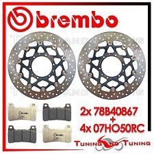 Dischi Freno Anteriore BREMBO + Pastiglie BREMBO RC HONDA CB 1000 R 2012 2013 13