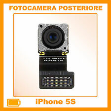 FOTOCAMERA POSTERIORE RETRO PER IPHONE 5S  8MP MPX FLASH NUOVA RICAMBIO