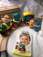 Lot 18 Pieces Brio Friends Large Track Wooden Train Toddlers People Cars