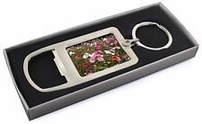 Poppies and Wild Flowers Chrome Metal Bottle Opener Keyring in Box Gif, FL-10MBO