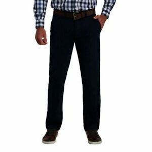 Haggar Men's Ultimate Travel Khaki Straight Fit Super Flex Waistband Pants