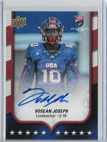 Vosean Joseph 2016 Upper Deck #10 Team USA U19 Rookie Autograph, Buffalo Bills