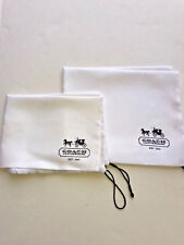 New authentic set of 2 Coach Cover dust bag white