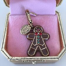 JUICY COUTURE Gingerbread Man CHARM FROM 2010. IN GOLD LIMITED BOX!! EXQUISITE!!
