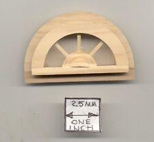 Window - Half Round - miniature 1/12 scale doll Houseworks #5048 attic wood 1pc