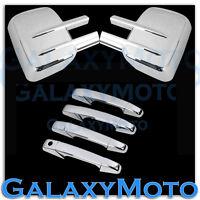 07-13 Chevy Silverado+Sierra Chrome Towing Mirror+4 Door Handle no PSG KH Cover
