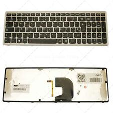 Teclado Español para Lenovo Z500 Silver Frame Black (Backlit)