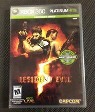 Resident Evil 5  (Xbox 360, 2009) Brand New
