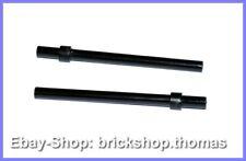 Lego 2 x Stab Stange schwarz - 63965 Bar 6L with Stop Ring Black - NEU / NEW
