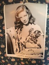 """Lauren Bacall - Poster approximately 24"""" x 34"""" Sultry pose - Great Condition"""