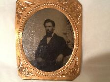 Tin Type Deguerreotype frame Scoville Marked Frame photo 3-1/4 x 2-3/4 w Vintage