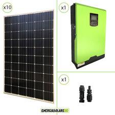 Kit solare fotovoltaico 3kW 48V monocristallino inverter edison 5KW MPPT 80A