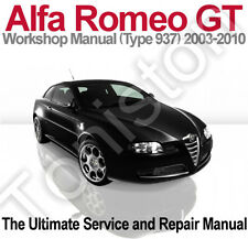 Alfa Romeo GT 2003 to 2010 (Type 937) Workshop, Service and Repair Manual on CD