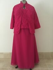 LANTING BRIDE, FUCHSIA PINK, FULL LENGTH DRESS WITH JACKET, BRIDE OR MOTHER NWT