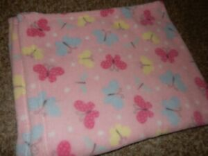 LN 30x30 Parents Choice Pink Butterfly Plush Baby Security Crib Lovey Blanket