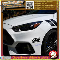 2 Stickers Autocollant OMP rallye tuning deco voiture decal sponsor