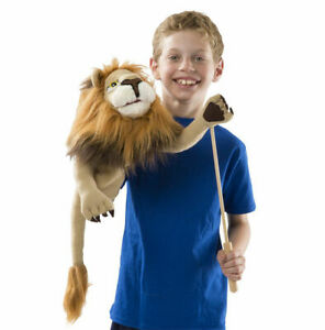New Plush Lion Rory 2568 Hand Puppet With Rod Toy Doll Melissa & Doug