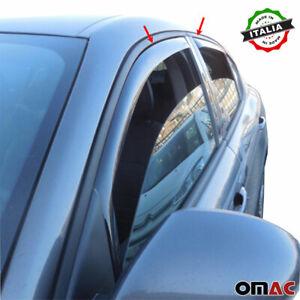 Window Visor Vent Sun Shade Rain Guard 4pcs Fits Alfa Romeo Stelvio 2017-2021