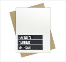 Funny Swearing NSFW Birthday Card for Adults and Friends Getting Older