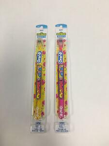 ( 2 ) Super Rare Oral B Elmo Sesame Street Soft  ToothBrush Yellow & Pink