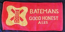 Bar Towel Advertising Batemans Brewery Good Honest Ale, Lincolnshire, England.