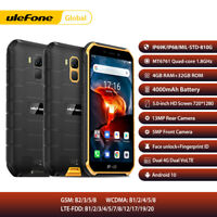 4G Ulefone Rugged Phone Unlocked Android 10 32GB NFC Waterproof Smartphone