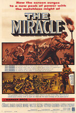 THE MIRACLE Movie POSTER 27x40 Carroll Baker Roger Moore Walter Slezak Vittorio